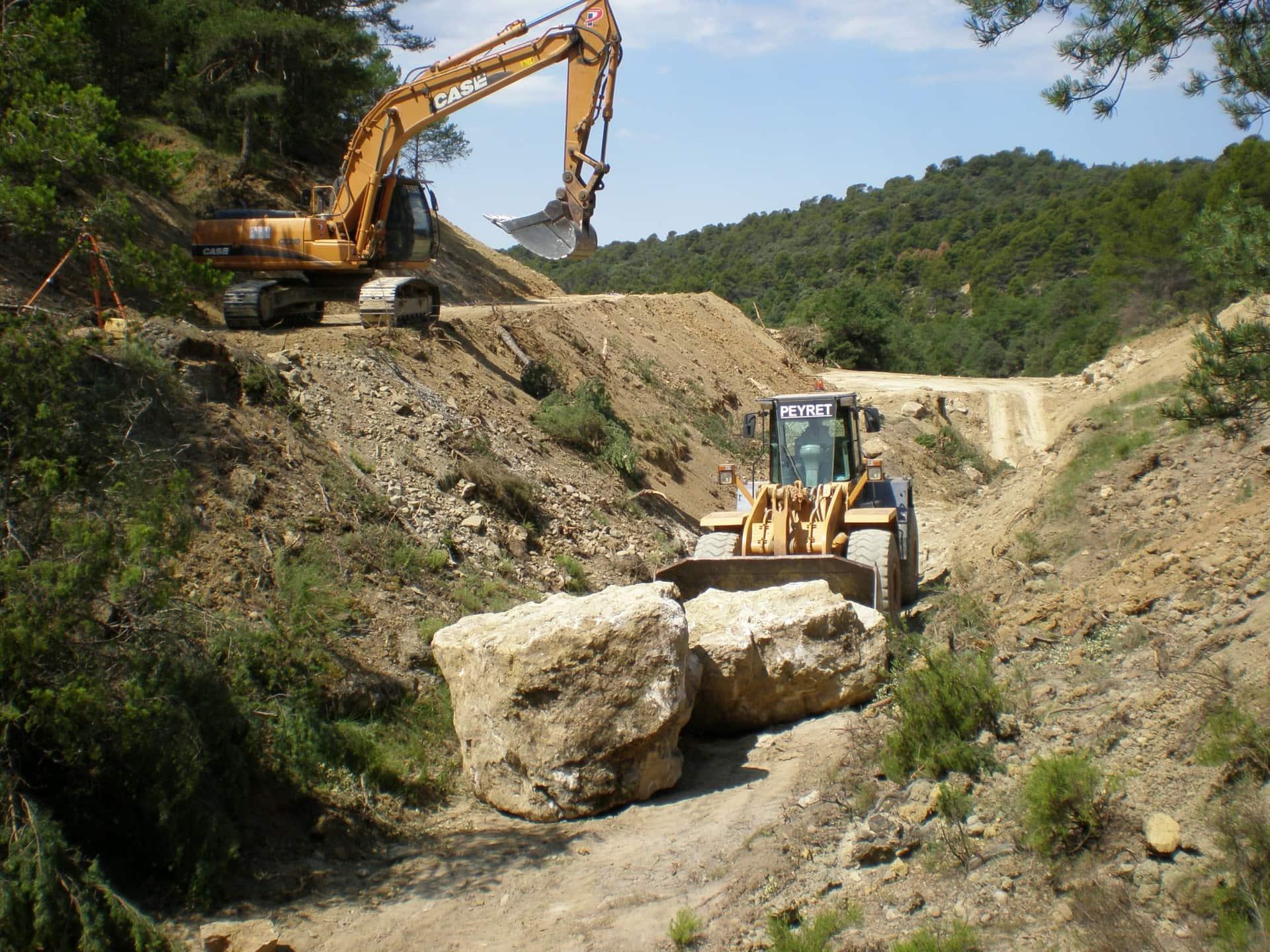 excavación con maquinaria- peyret