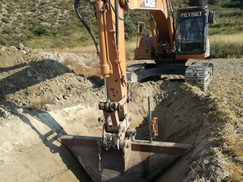 drenajes con excavadora- peyret